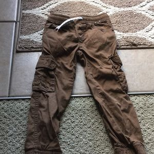 Gymboree boys brown pull on pant 4t